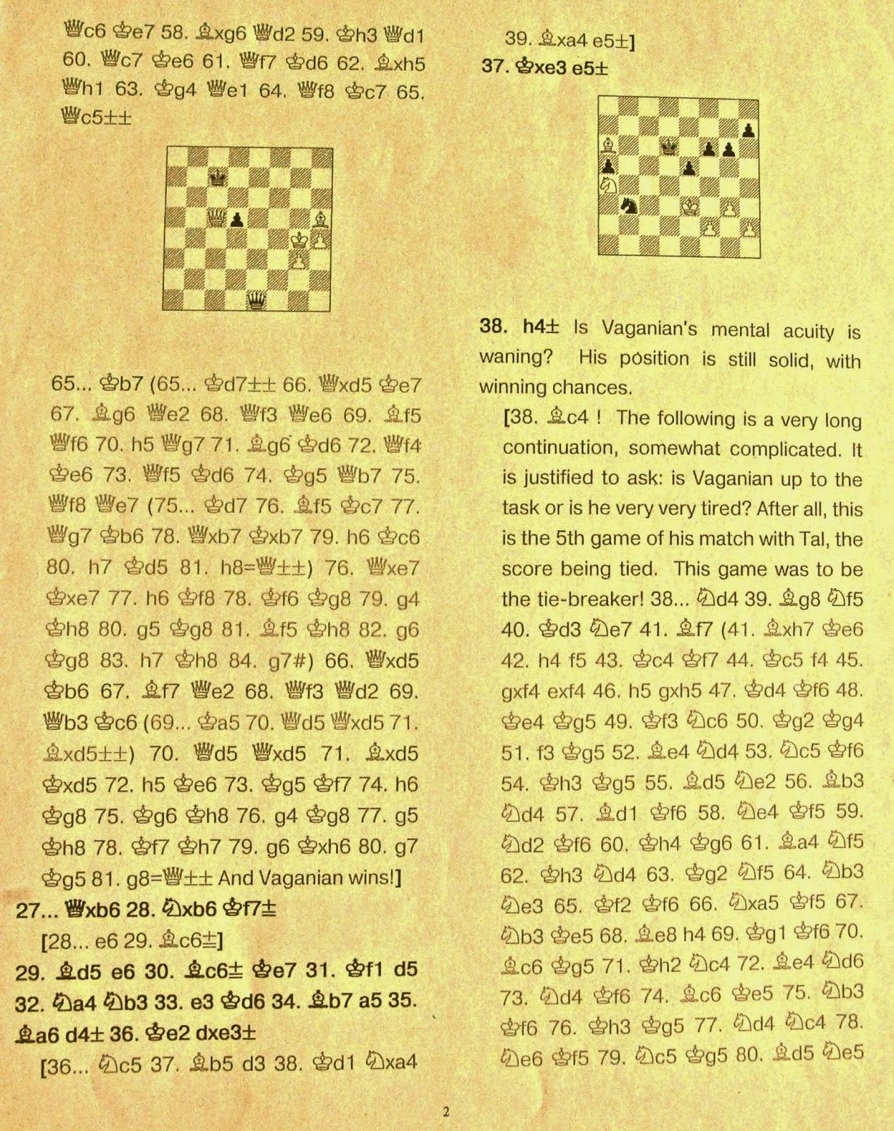 world chess championship game 5 analysis essay