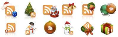 christmas 50+ Free RSS Feed Vector Icons Download