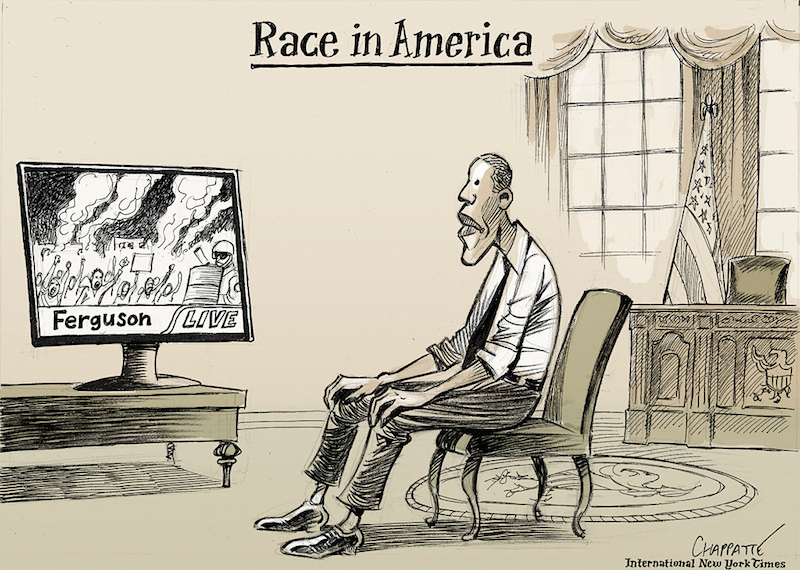 Race in America by Patrick Chappatte.