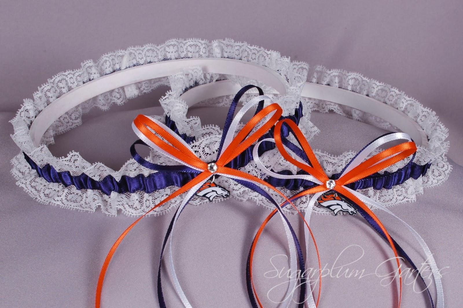 Denver Broncos Lace Garter Set by Sugarplum Garters