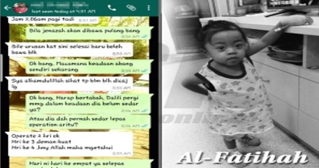 Al Fatihah, Setelah Bertarung Nyawa Jalani Pembedahan Adik Dalili Akhirnya Kembali Ke Rahmatullah