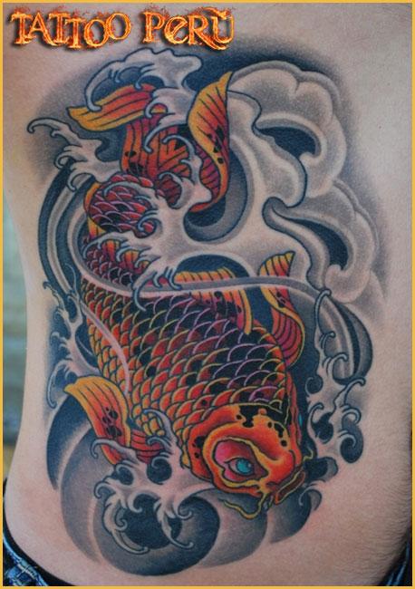 Tatuajes: Historia de los Tatuajes. Peces_japoneses