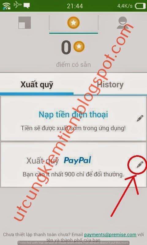 Premise Kiếm tiền trên điện thoại Android