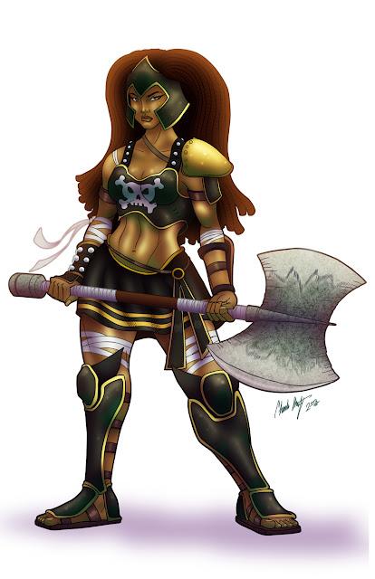 Black Ares Goddess of War