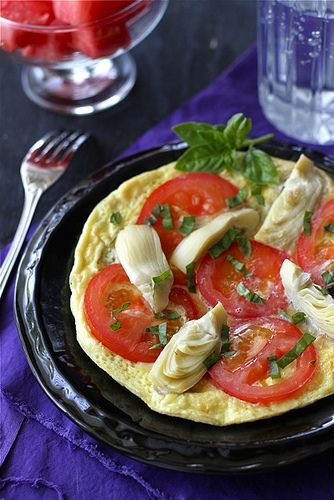 ... Frittata with Artichoke, Tomato, and Basil from Cookin' Canuck