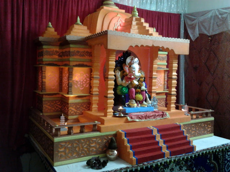 Ganpati decoration for Decorations of ganpati for home