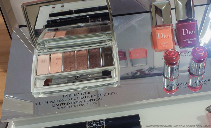 Dior Eye Reviver Illuminating Neutrals Eyeshadow Palette Backstage Pros Rosy Nordy Girl 003 Swatches Comparisons 001