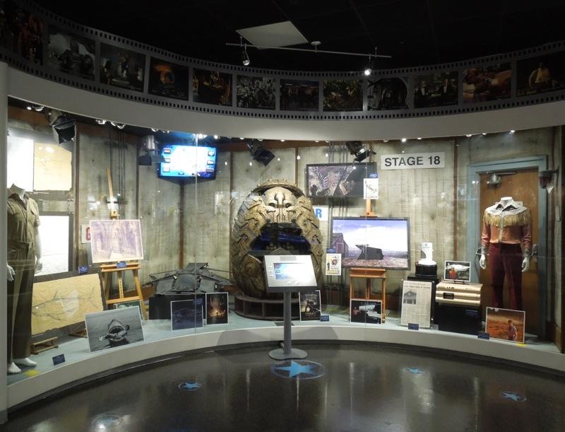 Universal Studios fantasy scifi movie exhibit