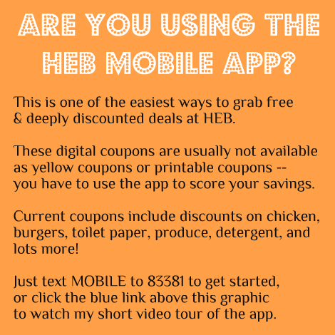 heb digital coupons can disappear if you dont reserve them in time so make a point of checking your app once or twice a week to see whats new