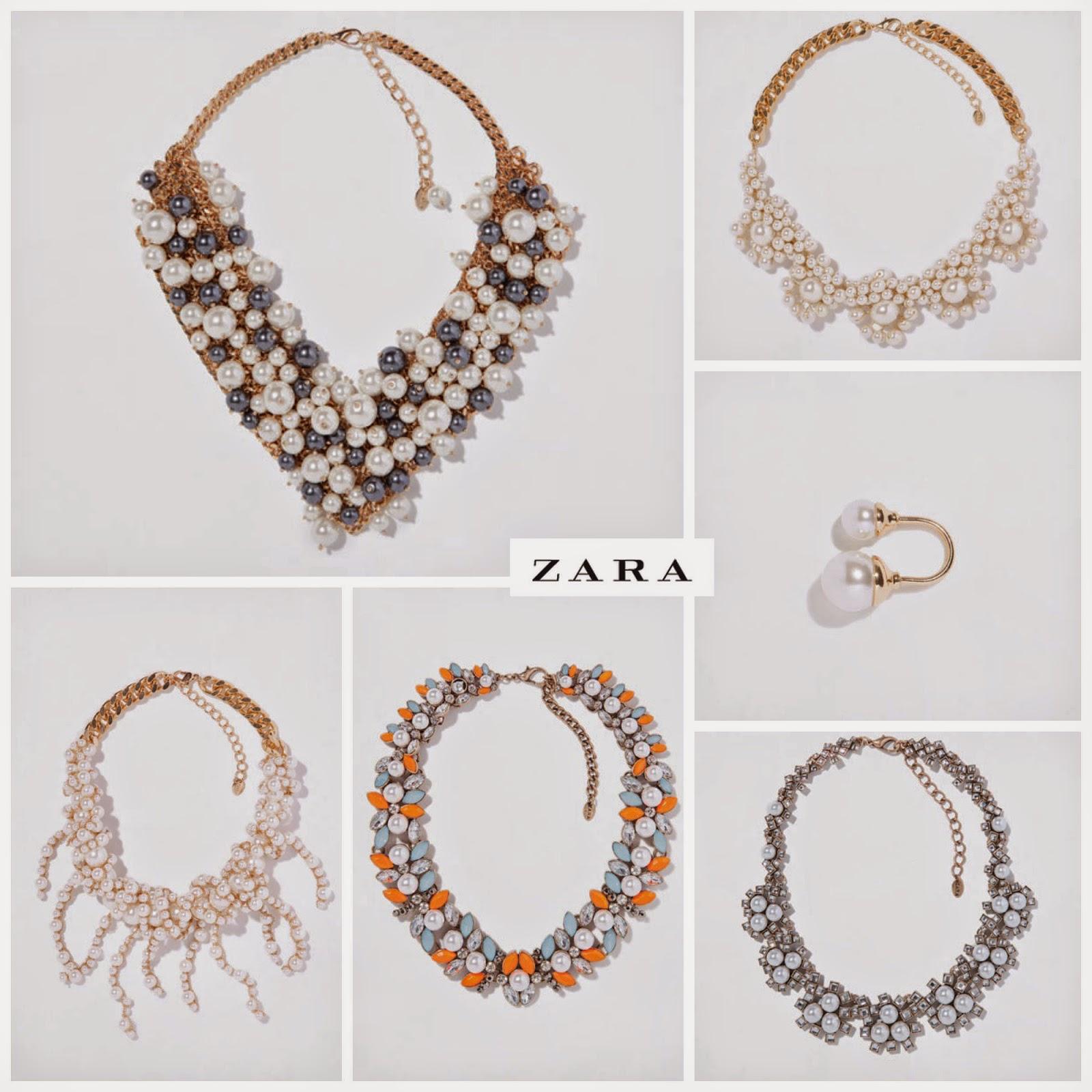 Perlas Look Zara