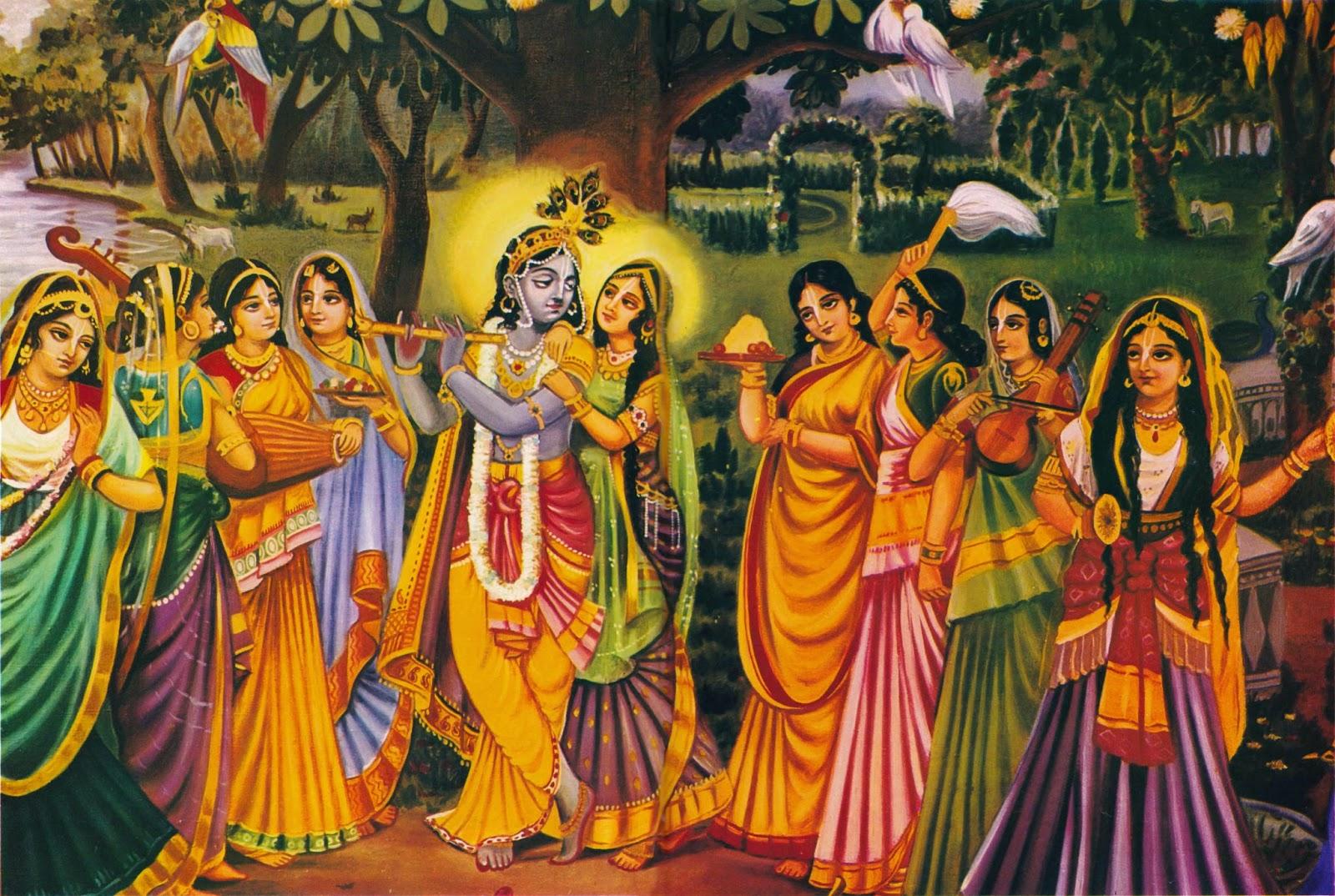 Lord Krishna with Mitravinda