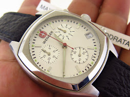 WENGER CHRONOGRAPH WHITE DIAL - SEMI SQUARE CASE