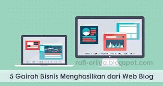 5 Gairah Bisnis Menghasilkan dari Web Blog