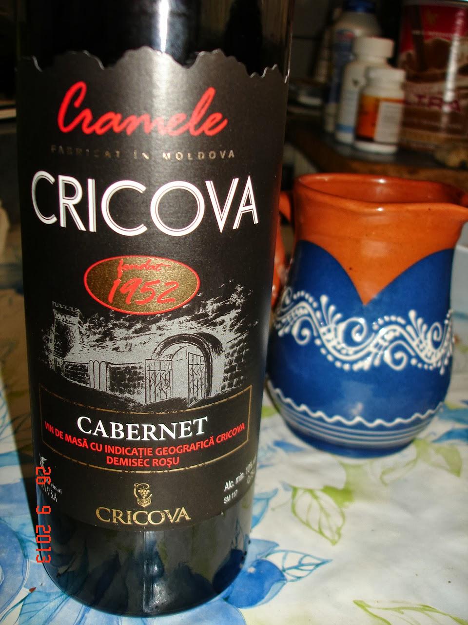 Hai noroc cu vin moldo-european de Cricova!