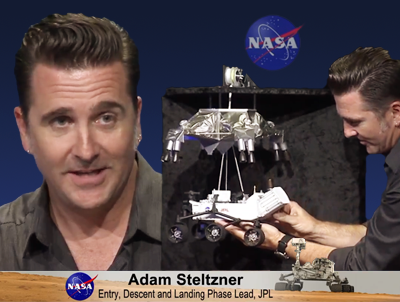 Adam Steltzner. Entry, Descent and Landing Phase Lead. NASA/JPL 2012.