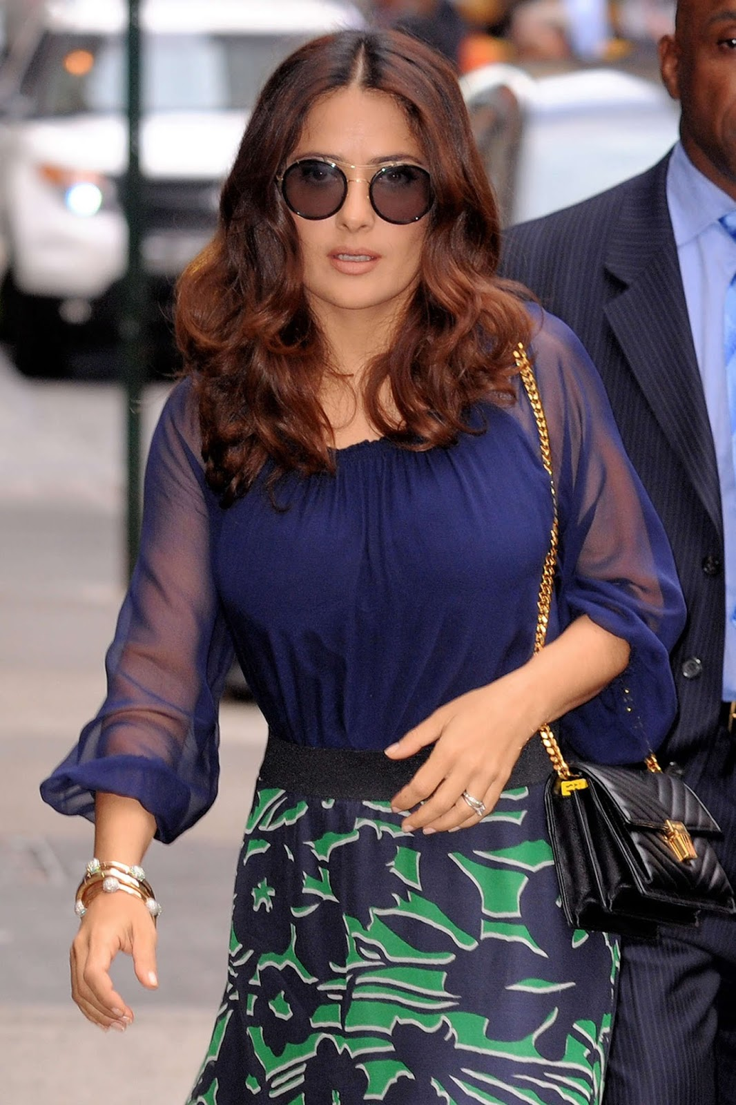 ... : Salma Hayek – Arrives at 'Good Morning America' in NYC