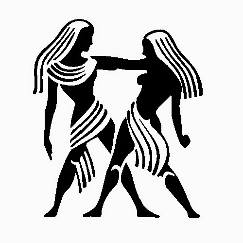 Gemini zondiac tattoo stencil design