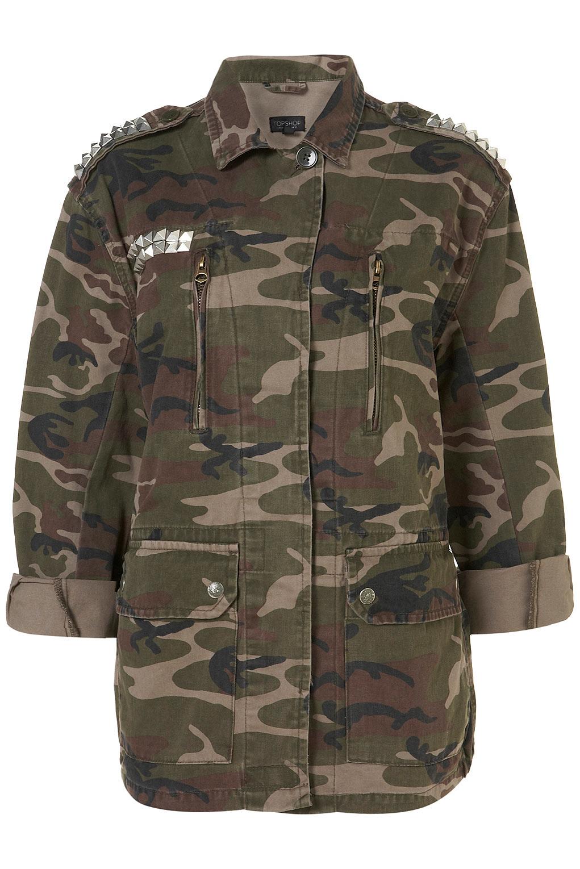 naughty emma diy spiked camo jacket