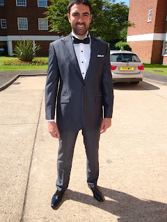 Matthew in his bespoke wedding suit