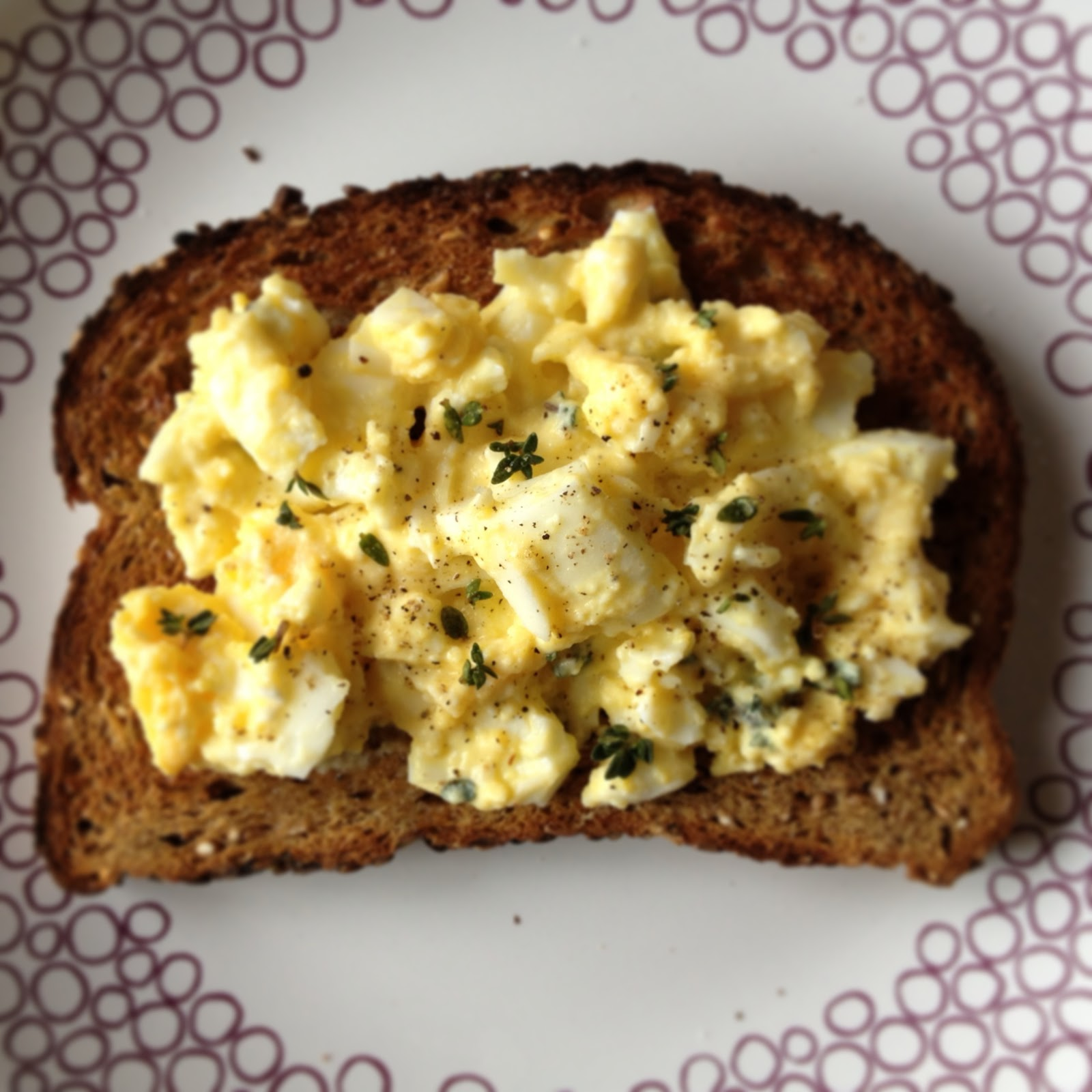 The Walsh Cookbook: Open-Face Egg Sandwich - Caity