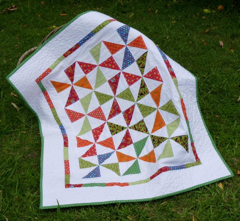 Pieces of Contentment: Baby Pinwheel Quilt : baby pinwheel quilt - Adamdwight.com