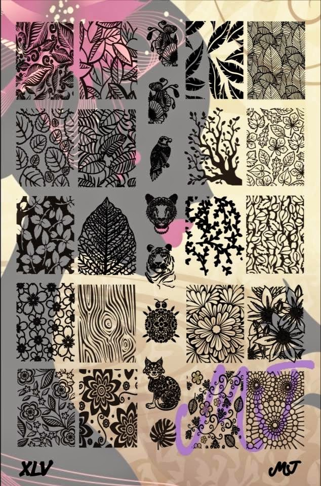 Lacquer Lockdown - MyOnline Shop, new stamping plates 2015, new nail art stamping plates, 2015, nail art stamping, nail art stamping blog, stamping, nail art, diy nail art, cute nail art idea, cool image plats, pop culture image plates, bears, nature, flowers, floral, cats, daisies, wood, leaves
