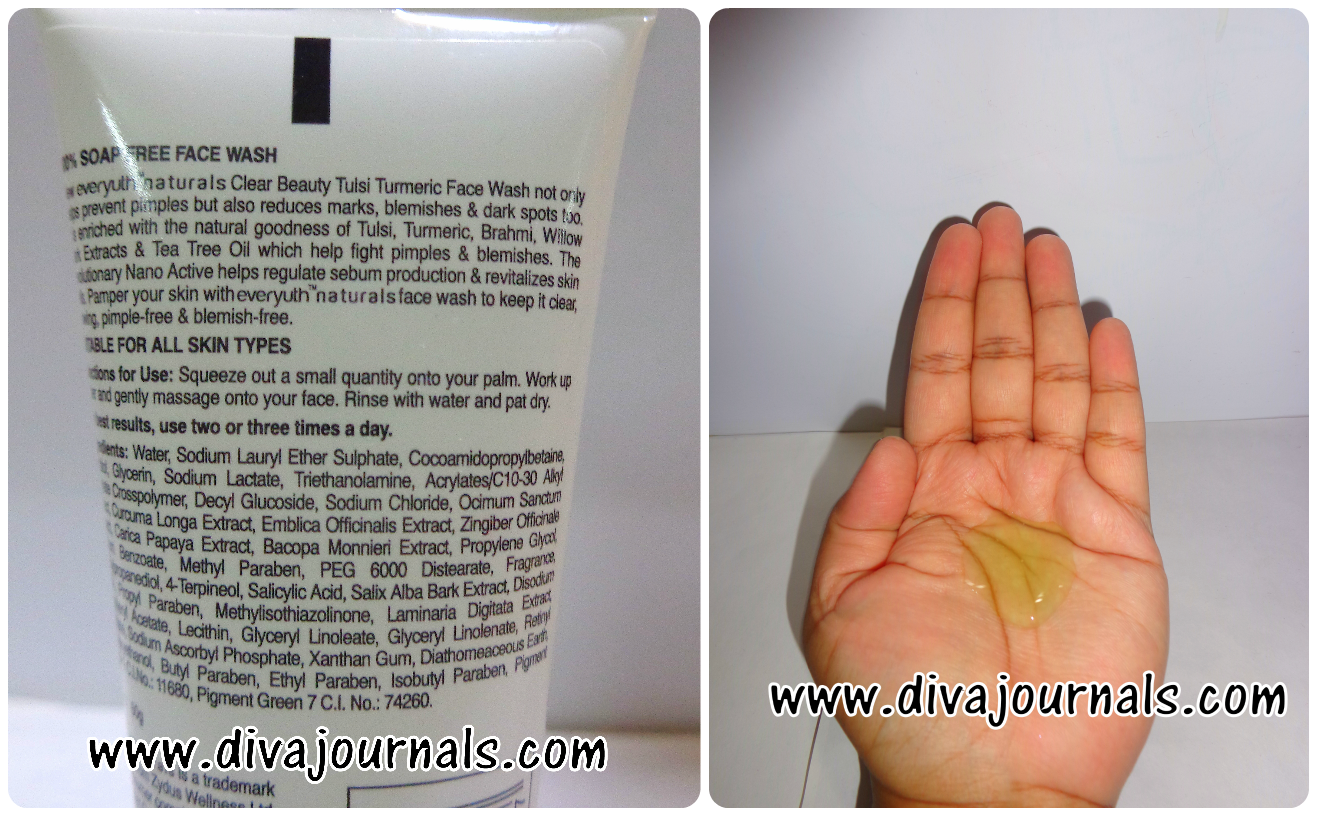 Everyuth Clear Beauty Tulsi Turmeric Face wash Review