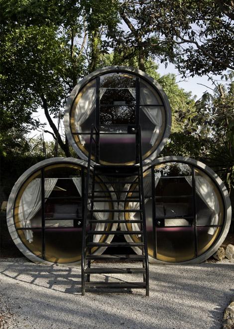 unusual tubo hotel in tepoztlan  mexico