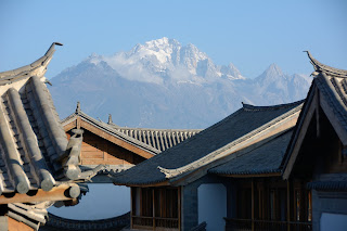 Jade Dragon Snow Mountain as seen from the Crowne Plaza hotel in Lijiang