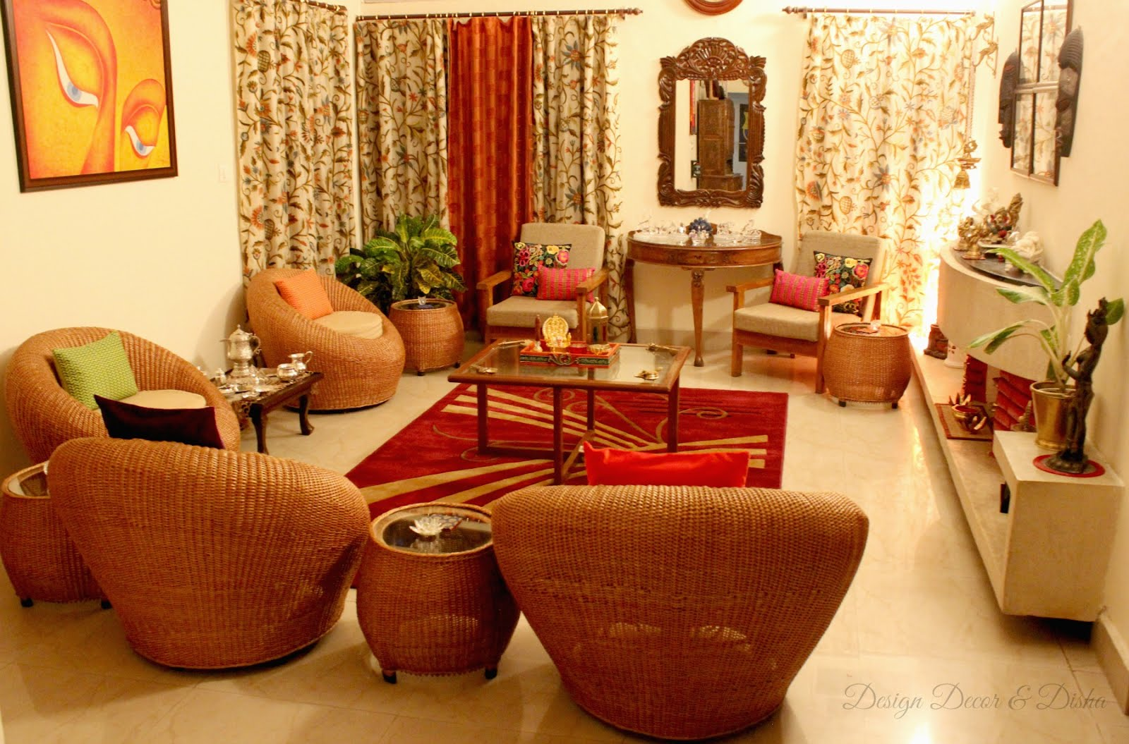 Design decor disha an indian design decor blog home for Living room ideas indian