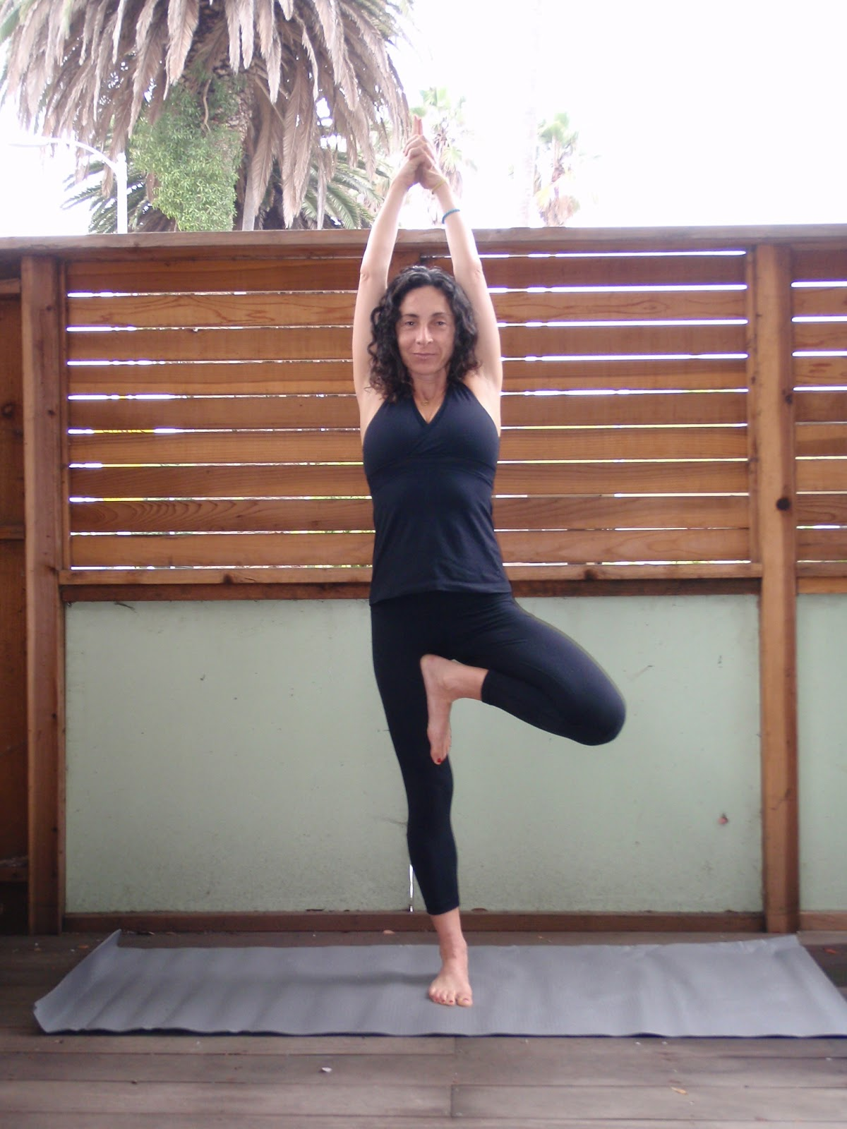 Tree pose arm variations