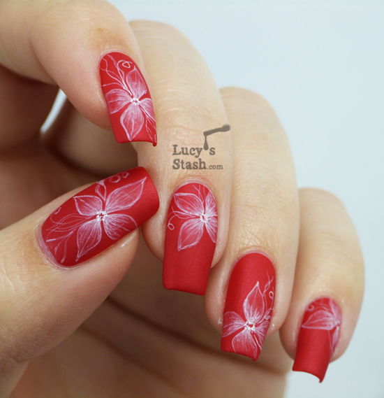 Red Matte Nail Polish Designs | Hession Hairdressing