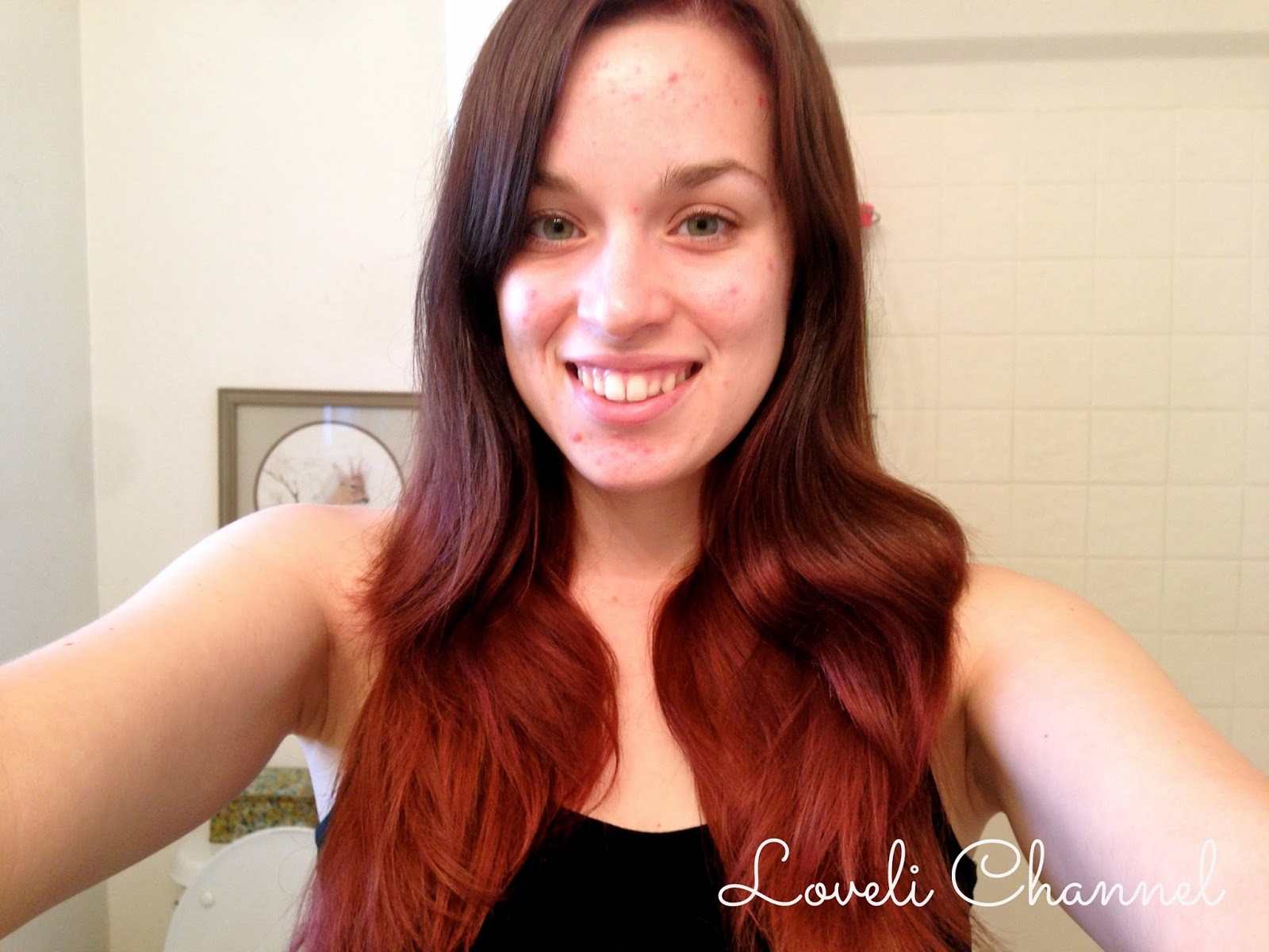 Red Tips On Brown Hair