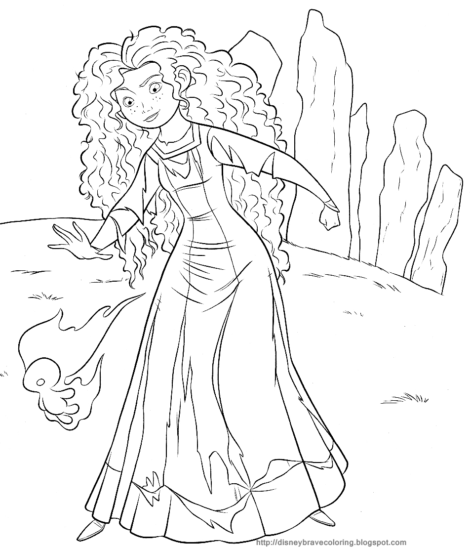 Coloring Pages Princess Merida : Disney coloring pages