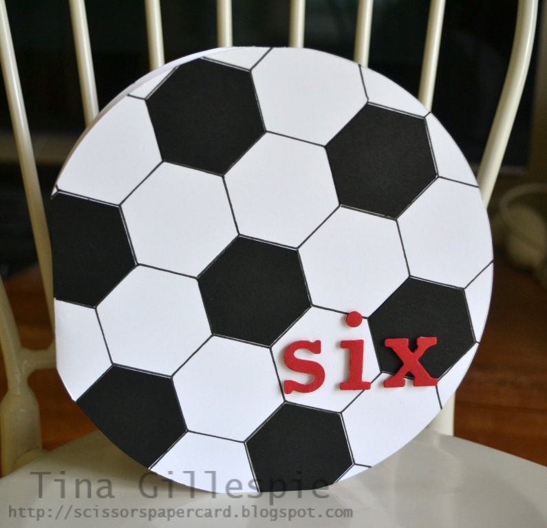 Scissors Paper Card Soccer Ball Birthday Card