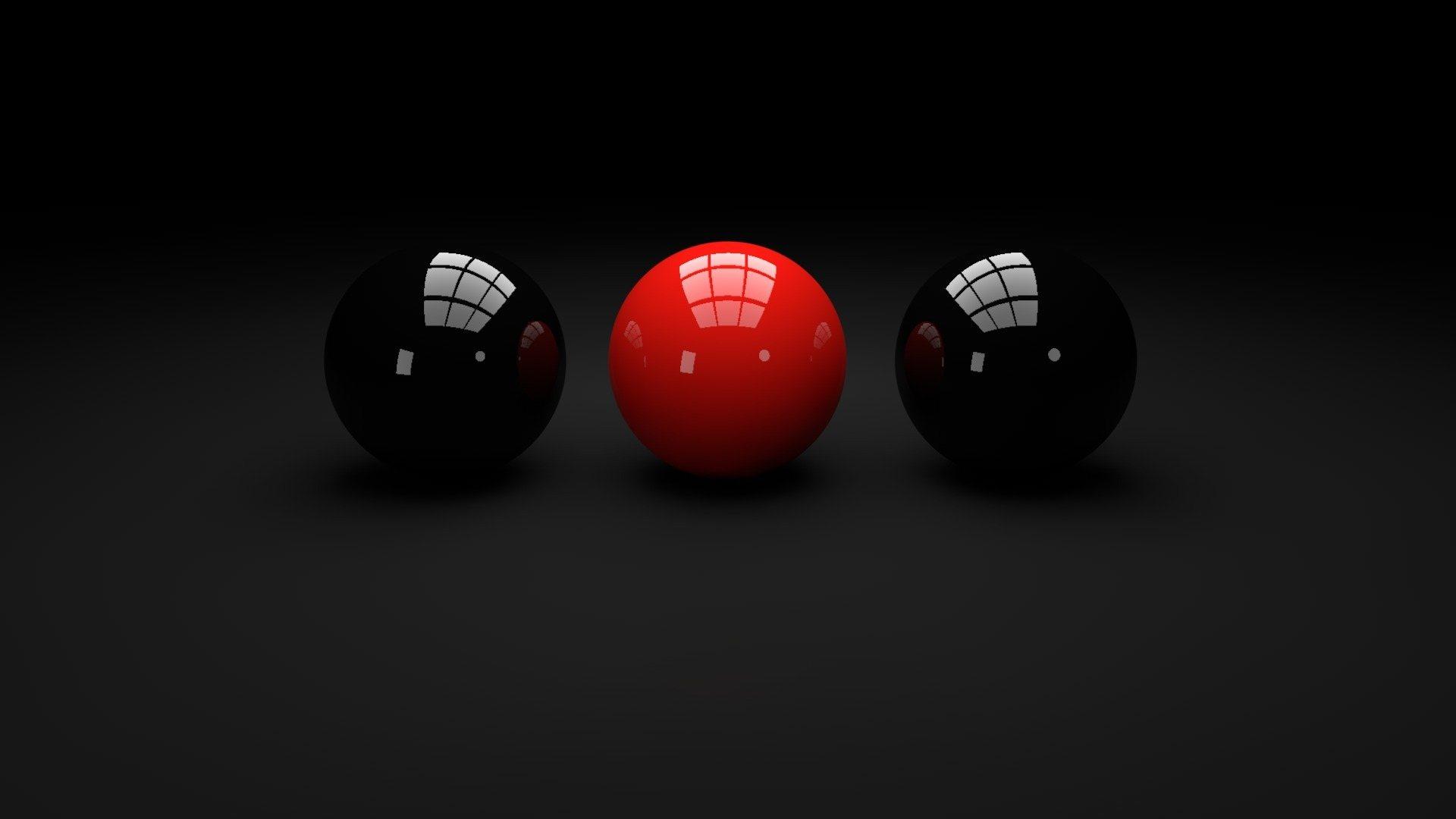 Black and Red snookerballs   Full HD Desktop Wallpapers 1080p