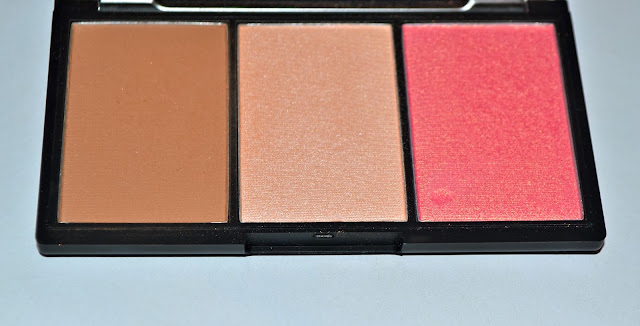 A picture of the borer, highlighter and blusher from the Sleek Face Form Contouring