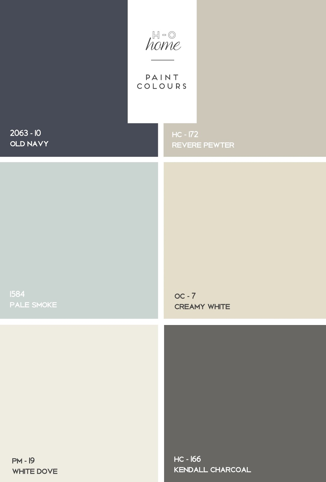 I searched pinterest and found great colours that matched what we were looking for from benjamin moore old navy revere pewter