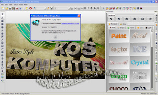 KosKomputer PC Screenshot Review599 Aurora 3D Text & Logo Maker 13.01.04 + Keygen