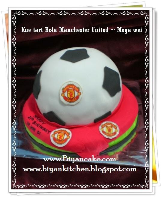 Kue ulang tahun Bola Manchester United ~ Mega