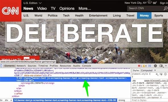 Captura de pantalla de la web de CNN destacando el código fuente de la cabecera.