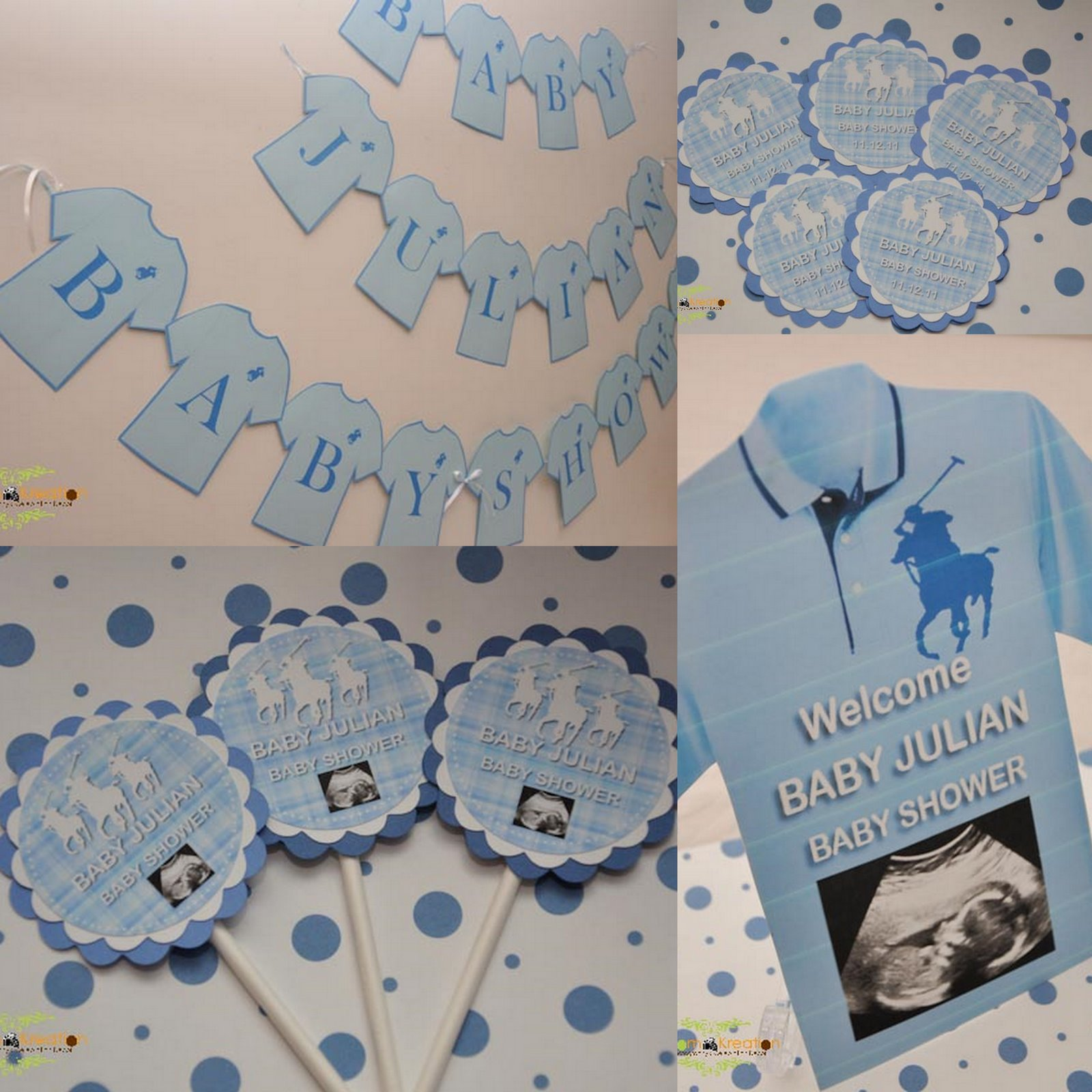 phtography celebration decor light blue polo theme baby shower