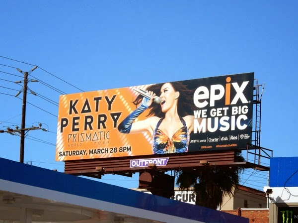 Katy Perry Prismatic World Tour Epix billboard