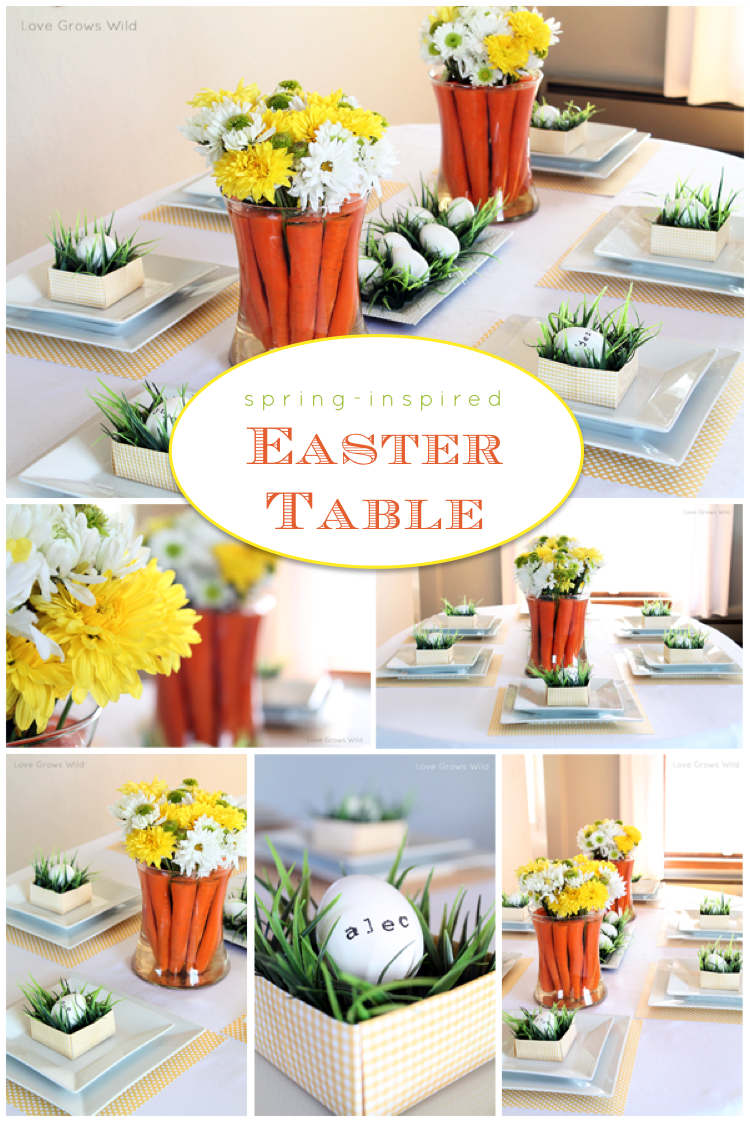 Spring Inspired Easter Tablescape And Carrot Centerpiece Love