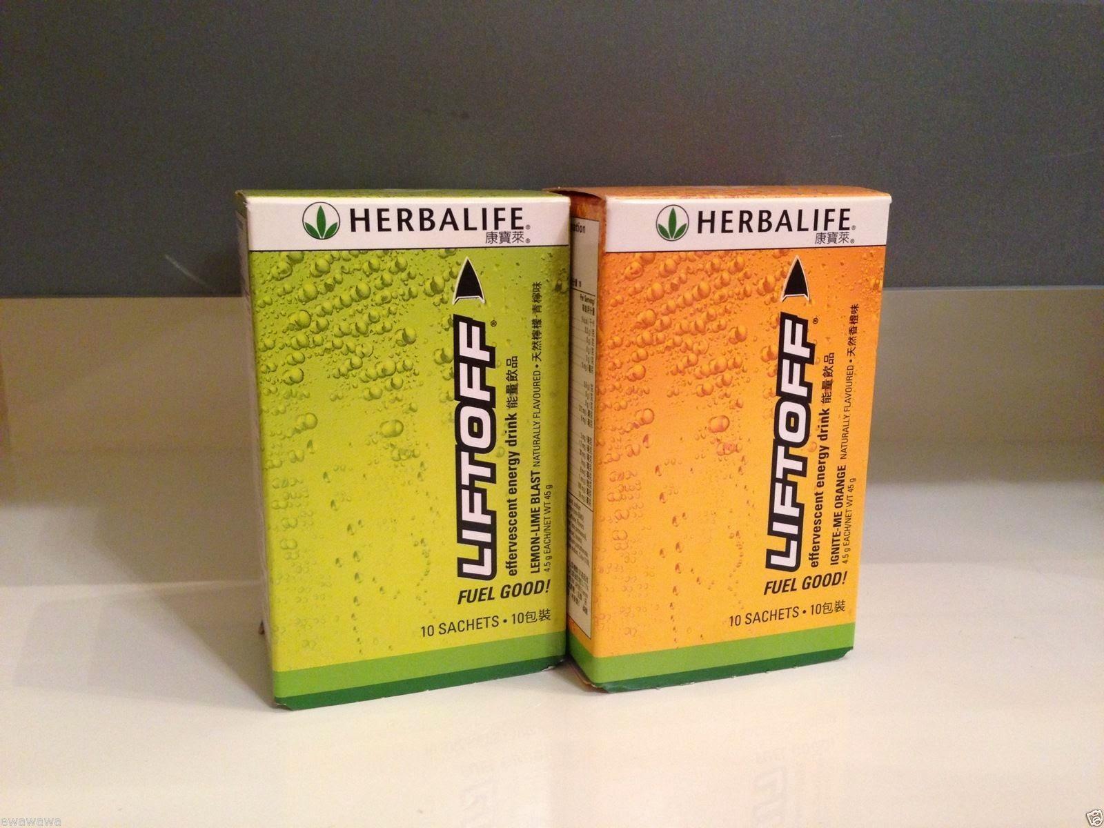 HERBALIFE LIFTOFF ENERGY DRINK (10 SATCHETS) Orange or Lemon
