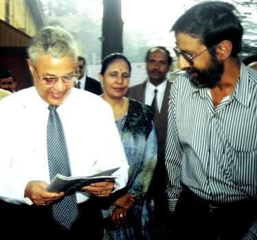 Rajen Todariya with Ex President of Fiji Mahendra Chowdhry