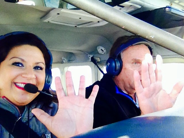 "Flying with my ""kindred spirit"", Larry."