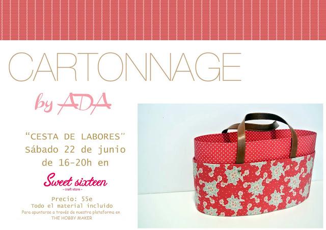 Taller cartonnage by Ada Cesta de Labores en Sweet sixteen