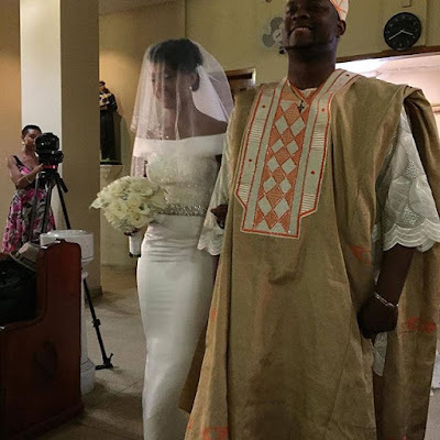 osas ighodaro gbenro ajibade white wedding pictures