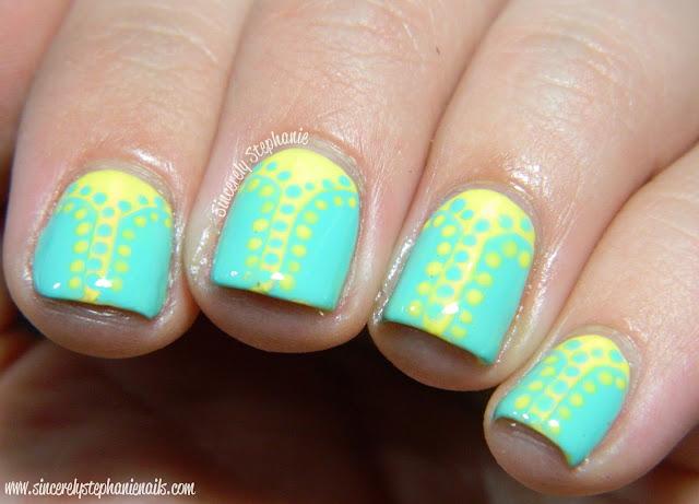 dotted v gap nails